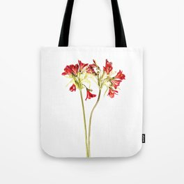 Parrot Lily Tote Bag
