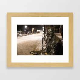 Annoyed Statue Framed Art Print