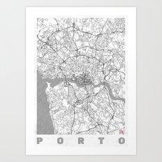 Porto Map Line Art Print