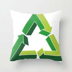 Recycle Infinitely Throw Pillow