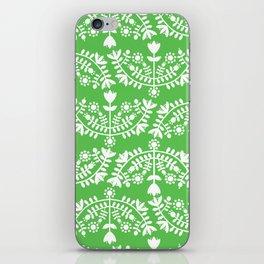 Folk Pattern Green iPhone Skin