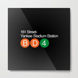 Subway yankee stadium Metal Print