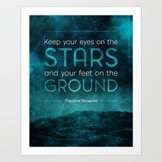 Eyes on the Stars Art Print
