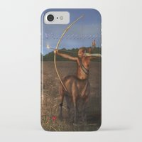 sagittarius iPhone & iPod Cases featuring Sagittarius by Viggart