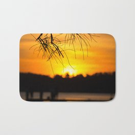 Belmont, Green Point, Australia Jetty at Sunset (Portrait) Bath Mat