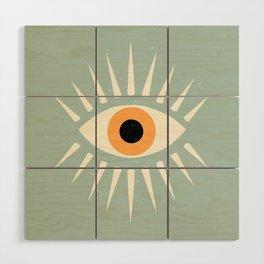 Yellow Eye Wood Wall Art