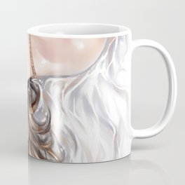 Sexy woman on bed, Tied up with rope, Naked body, Brown long hair, Fetish, Nude art, bondage art Coffee Mug