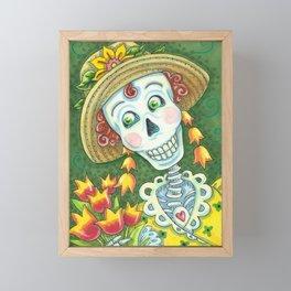 TULIPS DIVINE Spring Skeleton Framed Mini Art Print