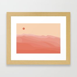 Desert sands at sunset - pinks Framed Art Print