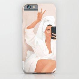Morning Selfie iPhone Case