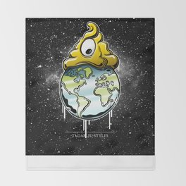 shit rules the world Throw Blanket