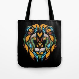 African Lion Head Tote Bag