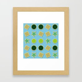 Shapes stickers Framed Art Print
