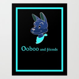 Ooboo and friends: Ooboo Poster Art Print