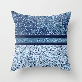 Vintage Terrazzo Blues Throw Pillow