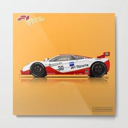 McLaren F1 GTR #03R - 1996 Le Mans - Side View Metal Print