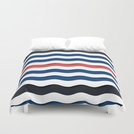 wave life pattern Duvet Cover