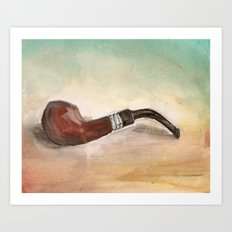 Smokin' Pipe Art Print