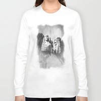 rushmore Long Sleeve T-shirts featuring Rushmore at Night by Peaky40