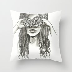 Beauty is within the eye of the beholder - By Ashley Rose Standish Throw Pillow