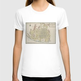 Vintage Map of Lisbon Portugal (1786) T-shirt