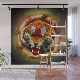 Cosmic Fire Tiger Roar Wall Mural