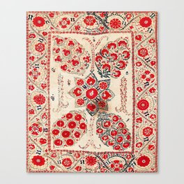 Bokhara Suzani Southwest Uzbekistan Embroidery Canvas Print