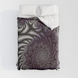 Purple and Gray Duvet Cover