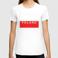 poland T-shirts featuring Poland country flag name text by tony tudor
