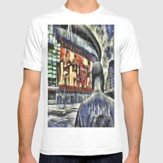 Thierry Henry Statue Emirates Stadium Art White MEDIUM Mens Fitted Tee