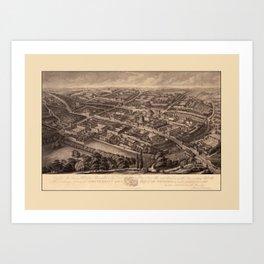 Oxford 1850 Art Print