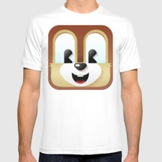Chip cutie White MEDIUM Mens Fitted Tee