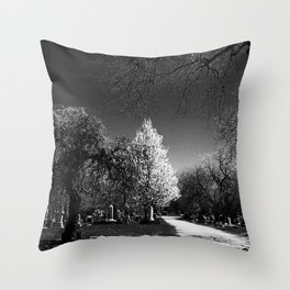 walking in the half light Throw Pillow