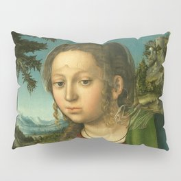 """Lucas Cranach the Elder """"The Virgin and Child with a Bunch of Grapes"""" Pillow Sham"""