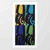 headphones Art Prints featuring Headphones by Brianms18