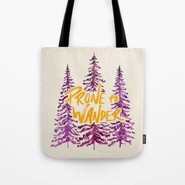 Prone to Wander - Gold and Purple Tote Bag