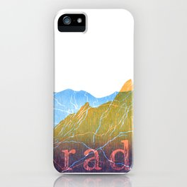 Colorado Mountain Ranges_Boulder Flat Irons + Continental Divide iPhone Case