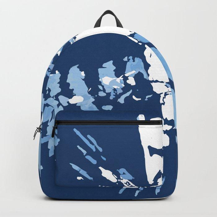 Blue Shibori tie-dye Backpack