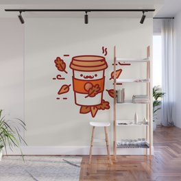 Autumn Coffee Wall Mural