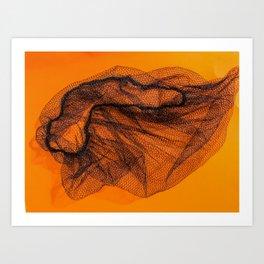 Deli clerk hairnet Art Print