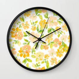 WatercolorBlossoms Wall Clock