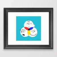 Charlie Brown, colour wheel Framed Art Print