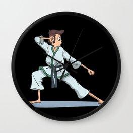 Karate Kata defense fist Wall Clock