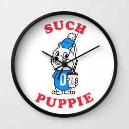 Such Puppie Wall Clock