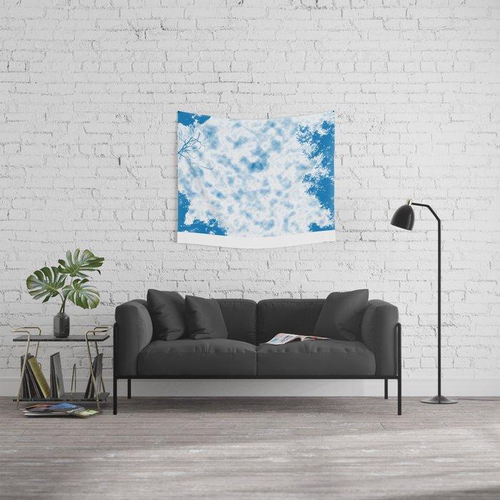 Winter Morning Moon Wall Tapestry