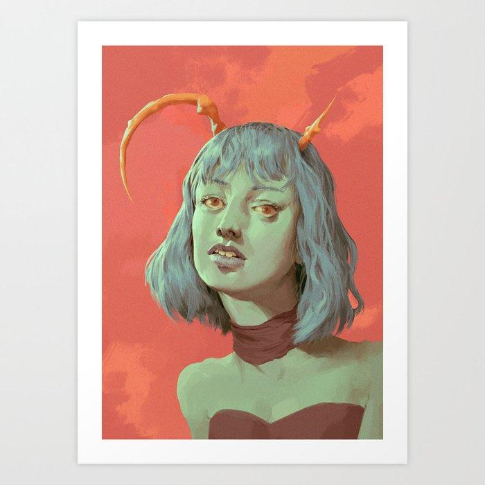 The Devils Daughter Art Print