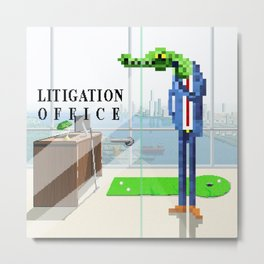 Litigation Office Metal Print