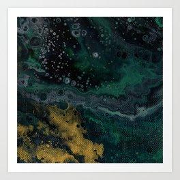 Abstract Fluid Acrylic Painting Turquoise II Art Print