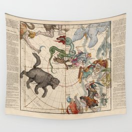 Ignace-Gaston Pardies - Globi coelestis Plate 1: Ursa Major, Ursa Minor, Perseus, and others Wall Tapestry