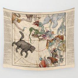 Ignace-Gaston Pardies - Globi coelestis Plate 1: Ursa Major, Ursa Minor, Perseus, and others Wall Tapestry